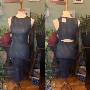 Sexy open slit bodycon dress